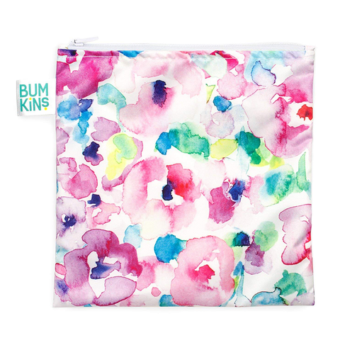 Bumkins Large Reusable Snack Bag: Watercolour