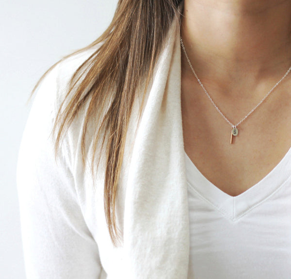 Simple Personalized Necklace in gold or sterling silver