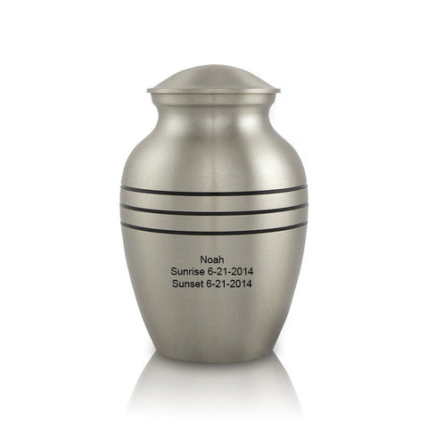 Classic Pewter Cremation Urn - Extra Small