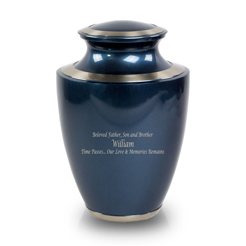 Trinity Blue Cremation Urn - Large