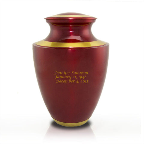 Trinity Crimson Cremation Urn - Large