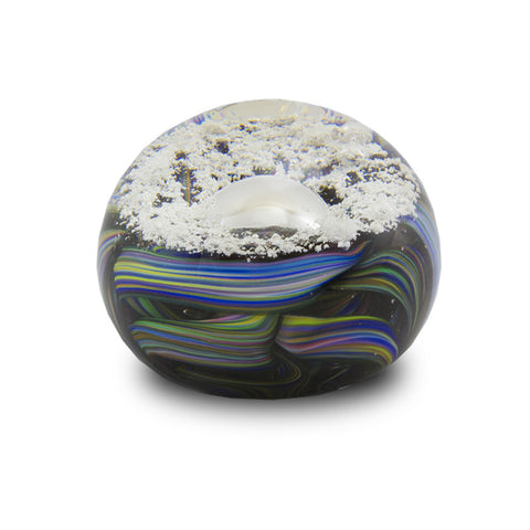 Ash in Glass Ribbon Paperweight Keepsake
