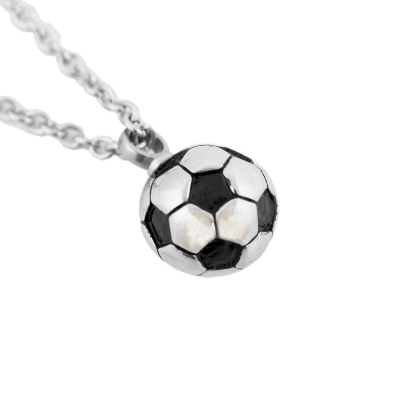 Soccer Ball Cremation Pendant - Stainless Steel