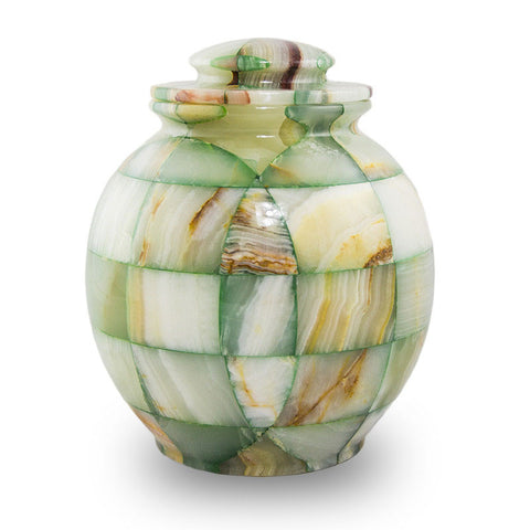 Sea Foam Marble Cremation Urn