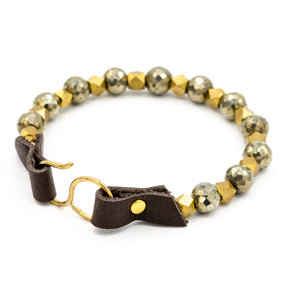 Brannan Bracelet, Single, Pyrite