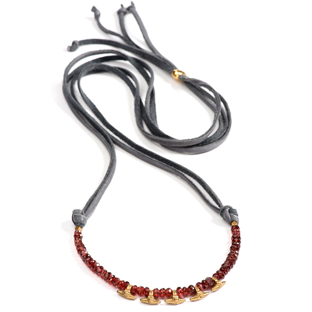 Asilomar Necklace Garnet