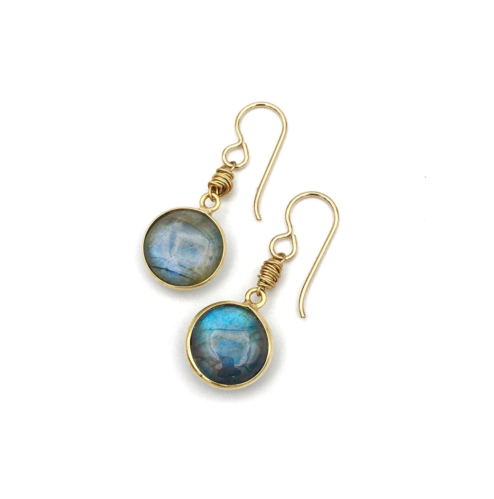 Oak Knoll Earrings Labradorite