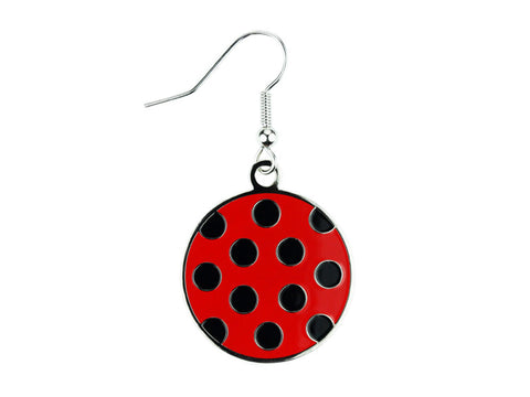 Polka Dot Red & Black Dangle (PDDEBR)