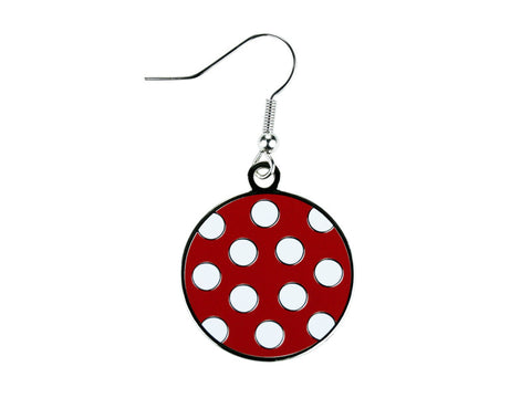 Polka Dot Red & White Dangle (PDDER/W)