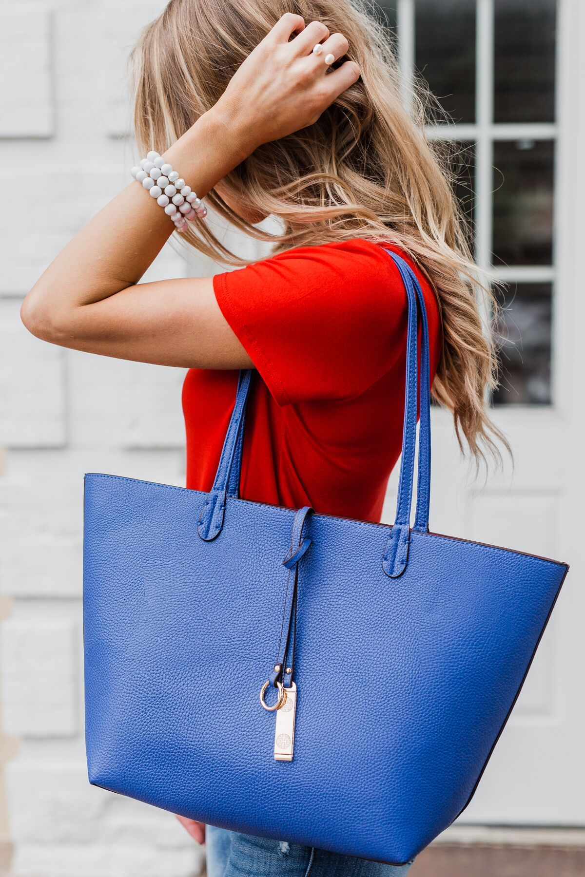 Reversible Tote- Royal Blue/Dark Fuchsia