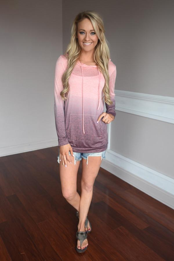 Ombre Hoodie ~ Pink