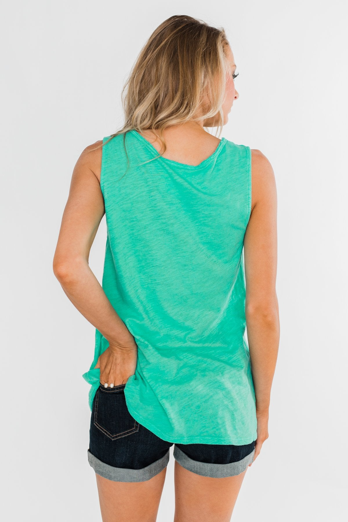 """I'm a Cool Mom"" Tank Top- Bright Mint"