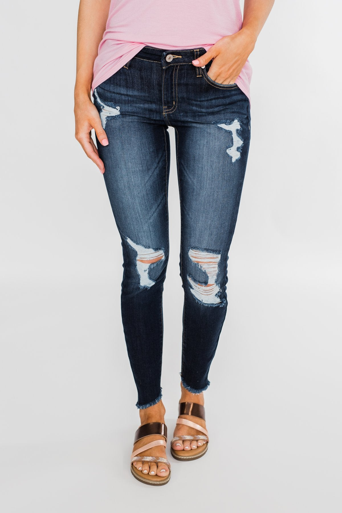 KanCan Callie Jeans- Black Distressed