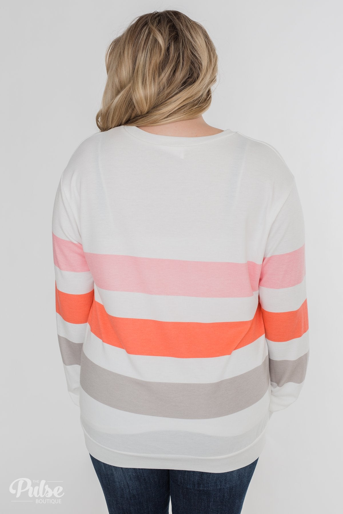 Dreaming of Spring Striped Pullover Top- Ivory