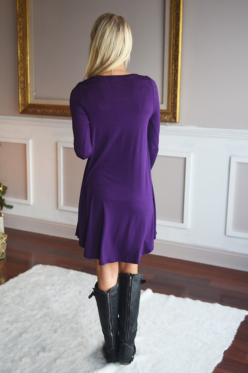 Simple Pleasures Dress ~ Purple