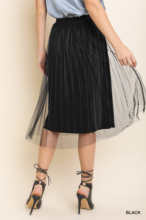 ENCHANTED HIGH WAISTED TULLE MIDI SKIRT