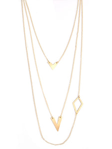 Linked Shapes Gold Necklace