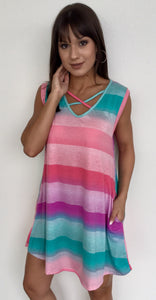 OVER THE RAINBOW TUNIC/COVERUP