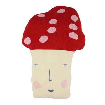 Colette Bream knitted wool cushion/soft toy - Molly the Mushroom