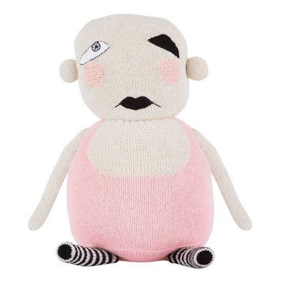 Lucky Boy Sunday Jealous Baby Pink Knitted Doll