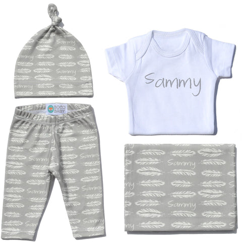 Welcome Baby Set - Feathers