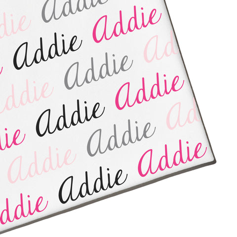 Swaddle - Name Only - Color Combo with White Background