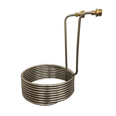 "Wort Chiller 3/8""-9"" Coil SS Without Tubing 25'"