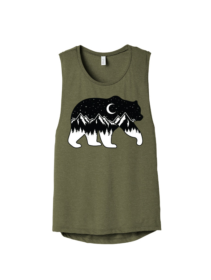 Melanie Peterson - Night Sky Bear - Ladies Tank
