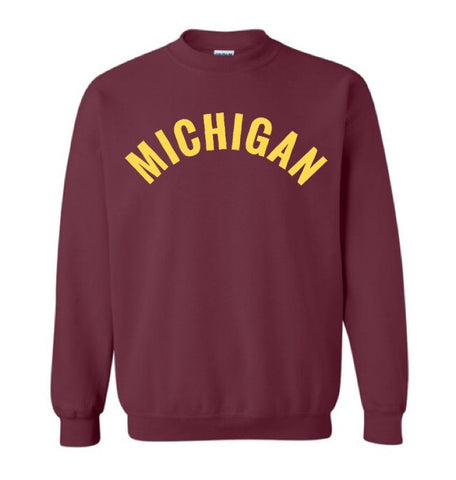 NEW MIchigan Crew neck sweatshirt