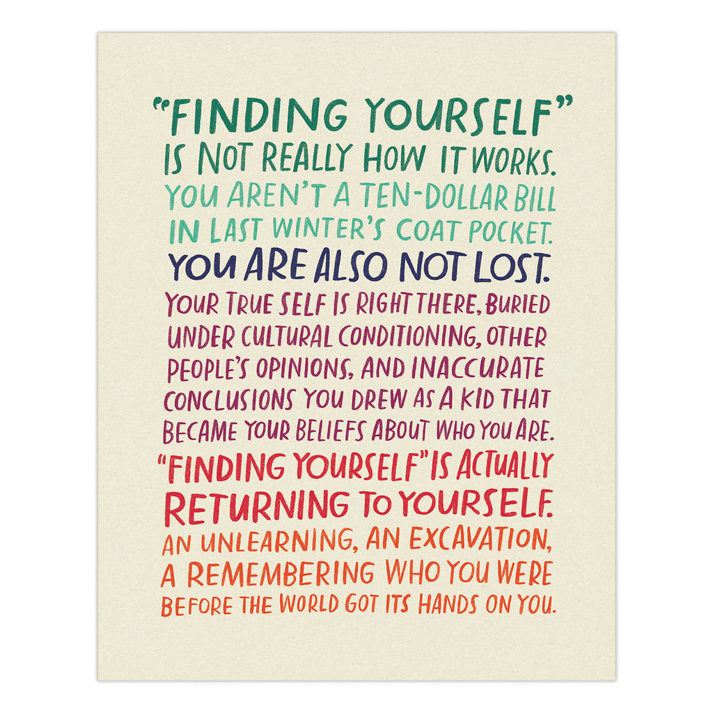 Finding Yourself art print from Emily McDowell & Friends