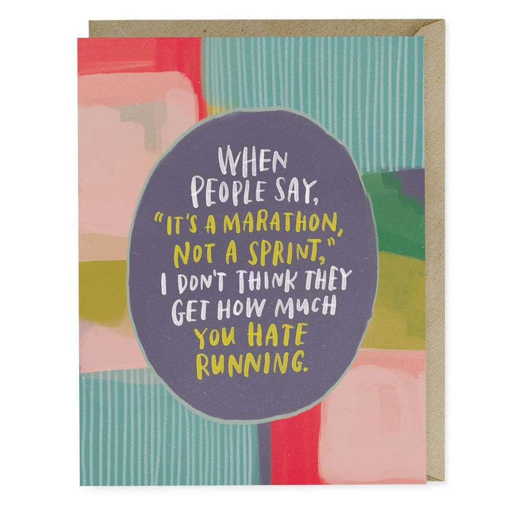 Emily McDowell It's A Marathon Empathy Card