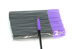 Disposable Mascara Wands Silicone PURPLE - The Lash Shop @ StellaLash