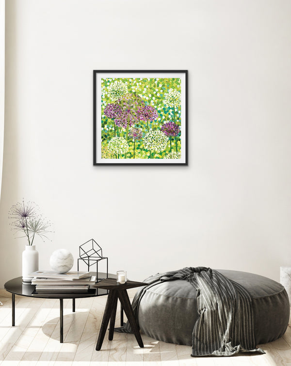 Allium Flowers Signed Edition Print