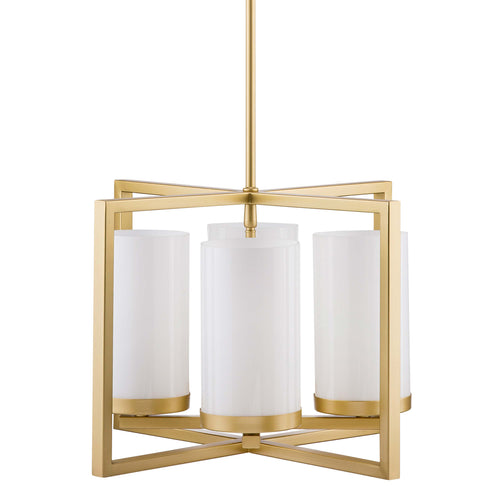 Verona 4 Light Contemporary Pendant - Satin Brass