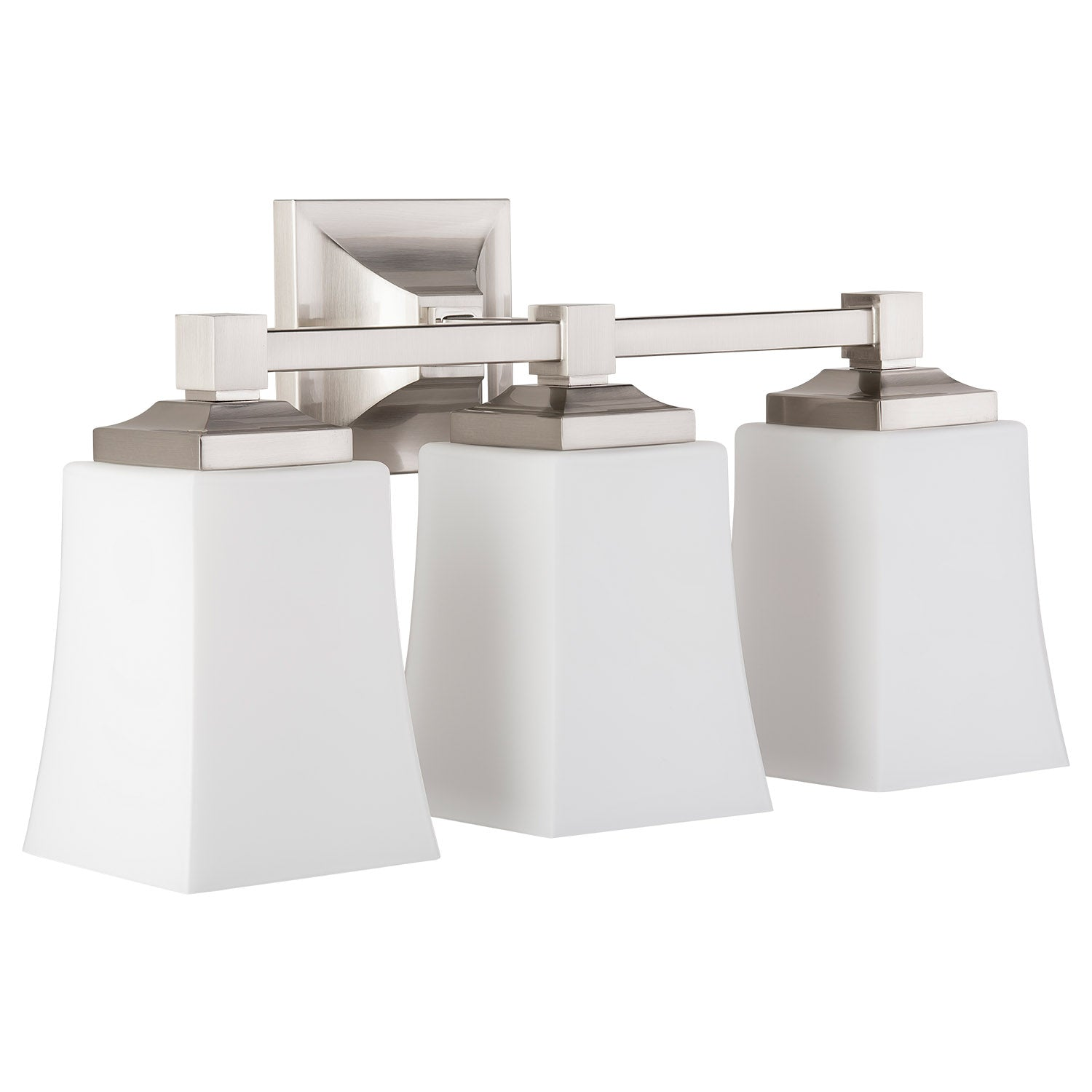 Brighton 3 Light Bathroom Vanity Light w/Frosted Glass