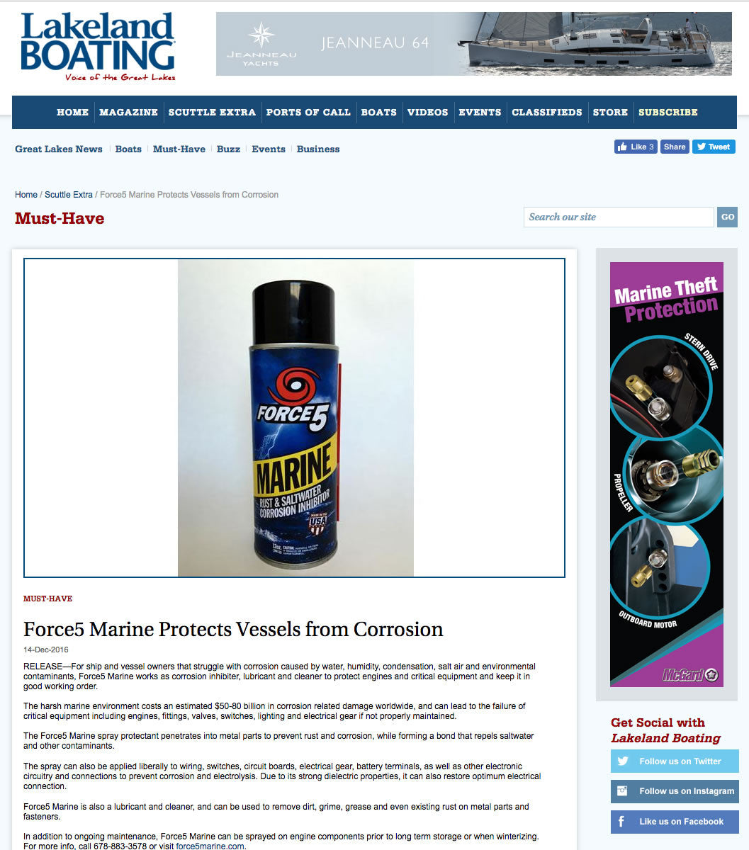 Force5 Marine Protects Vessels from Corrosion