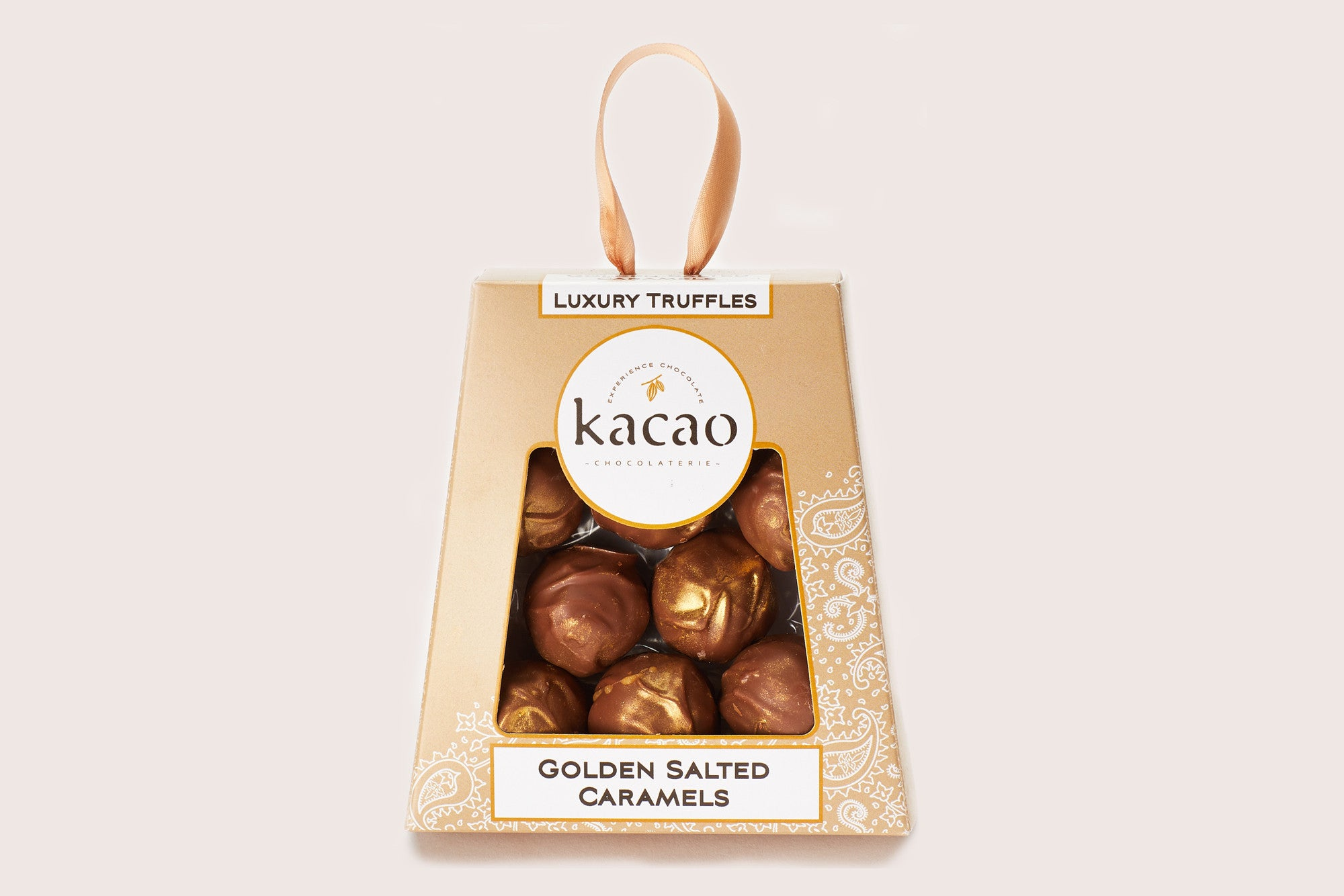 Golden Salted Caramel Truffles