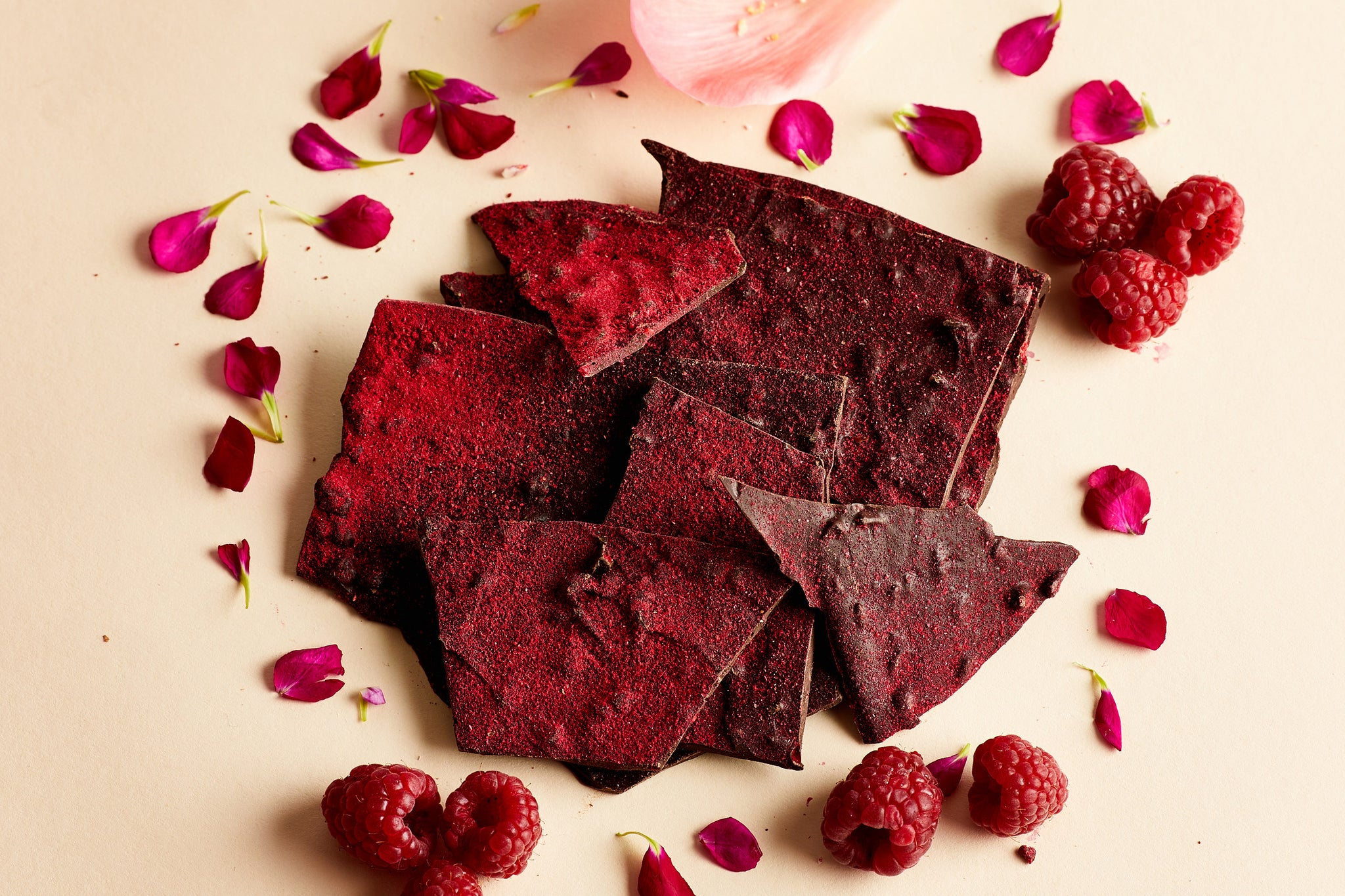 Dark Chocolate Raspberry Ripple Thins