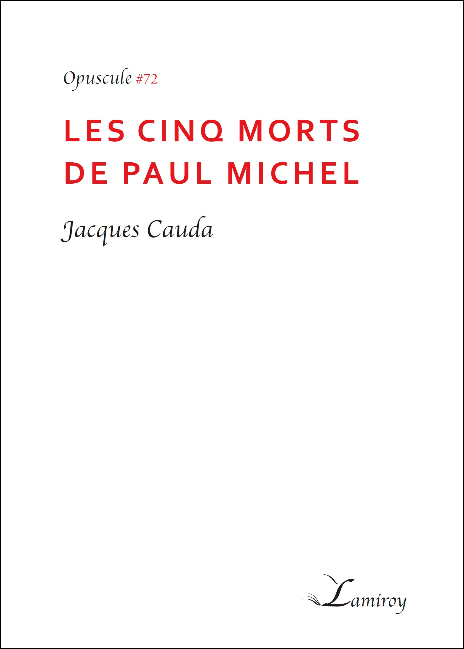 #72 Les cinq morts de Paul Michel