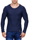 K&D Men Stylish Space Sweatshirt - Blue - FASH STOP