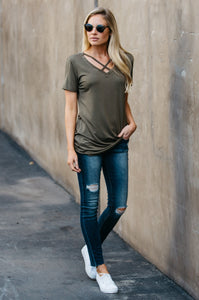 Short Sleeve Criss-Cross Tee