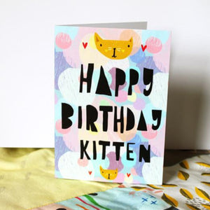 Nicola Rowlands Card - Happy Birthday Kitten
