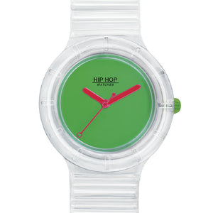 Orologio Unisex See Through Green Fluo HWU0943 Hip Hop