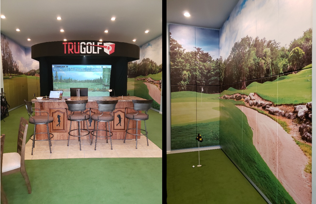 Man Cave Golf Simulator