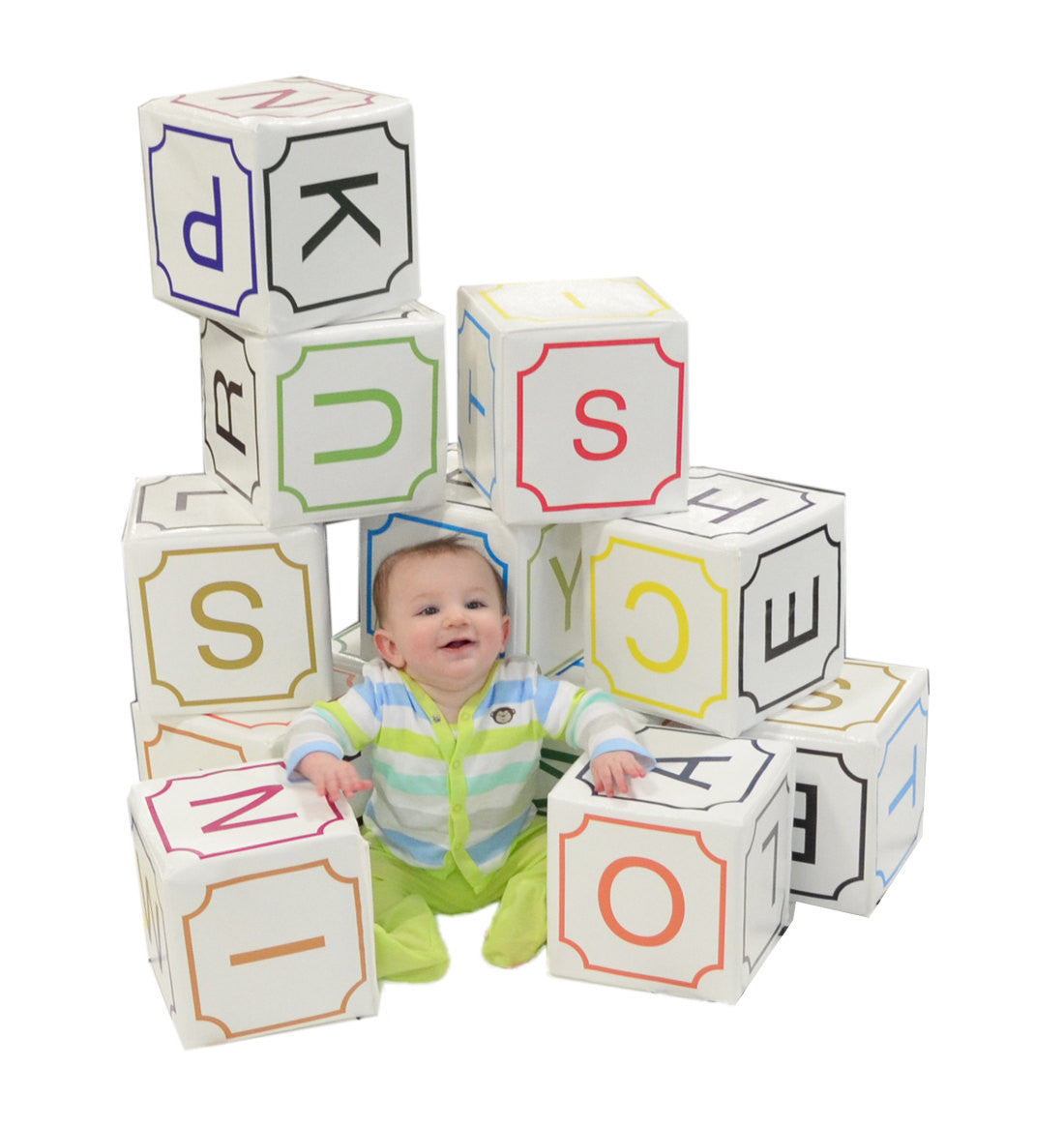 Oversized Soft Play Alphabet 12 Piece Block Set