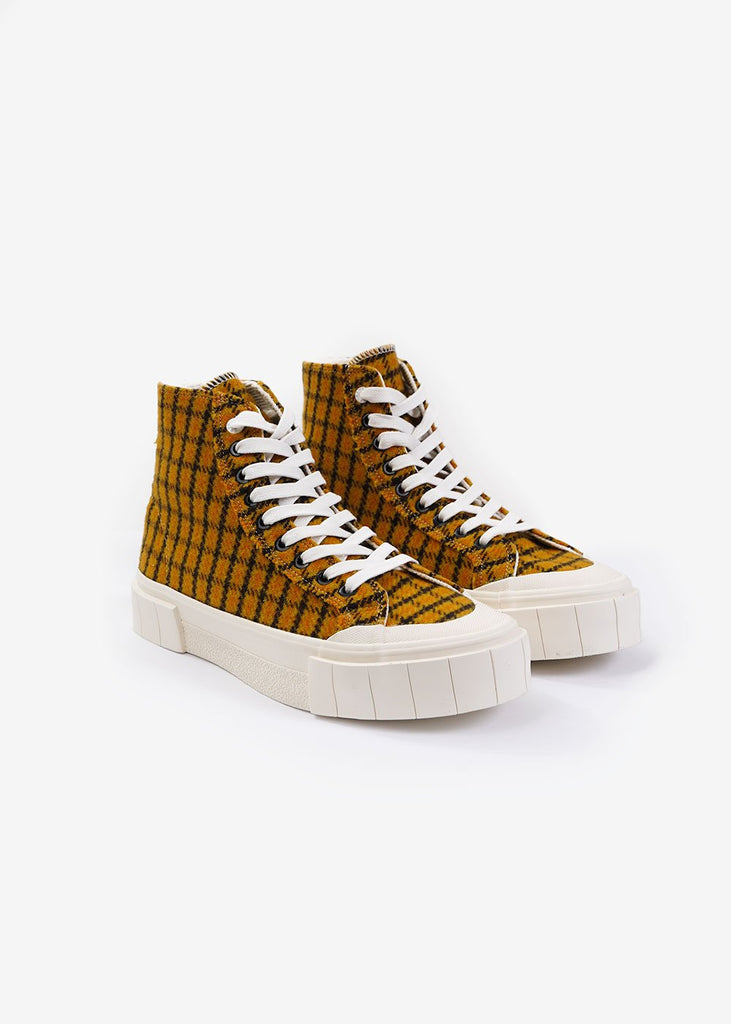 Mustard Check Softball 2 Hi Sneakers