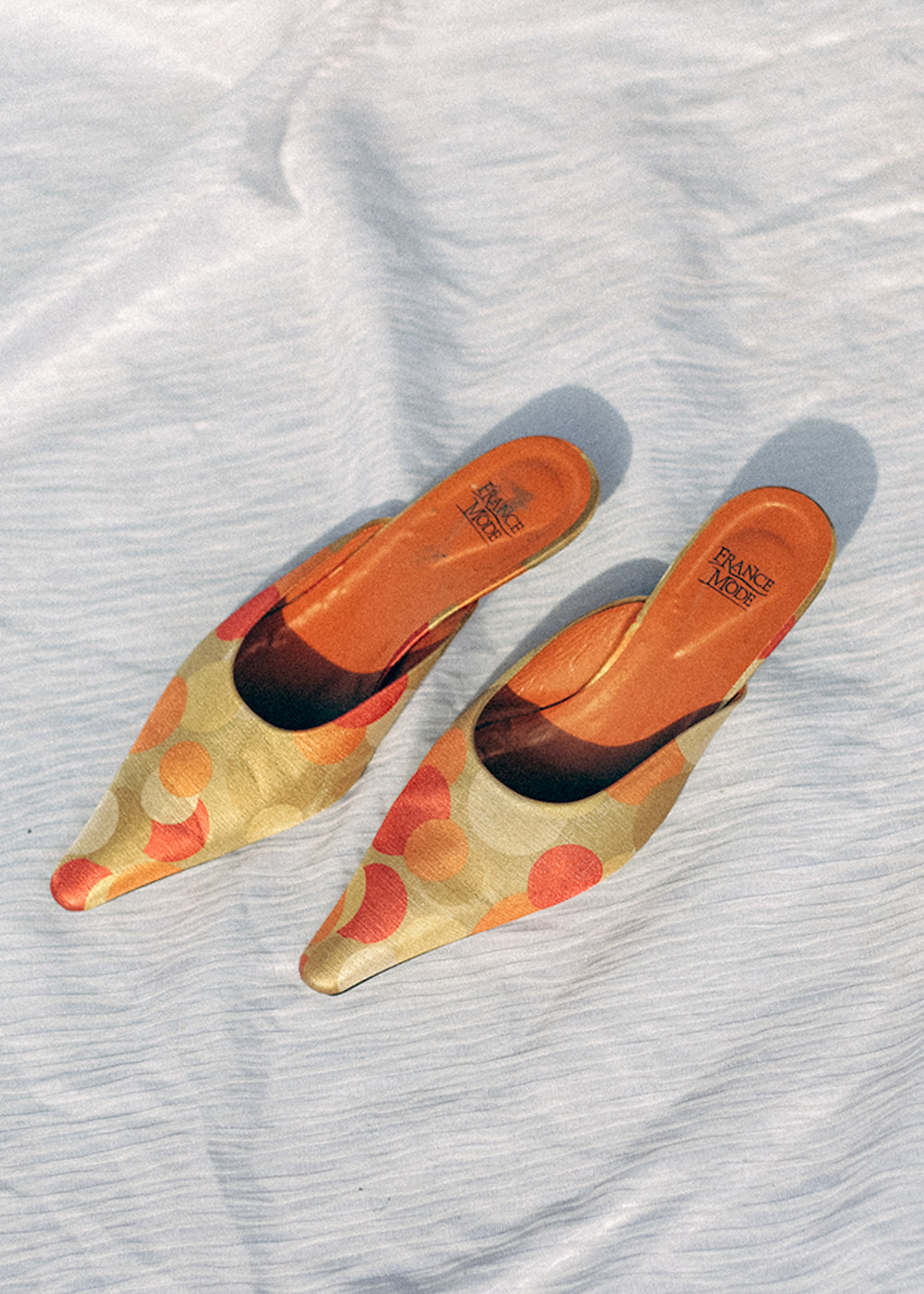 Vintage Retro Pointed Kitten Mules