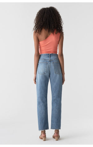 90's high rise loose boyfriend fit vintage affair light wash Agolde denim | pipe and row