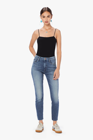 Mother denim High Waisted Looker jeans Hop on Hop off wash | pipe and row