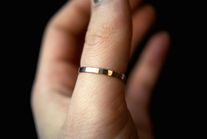 EXTRA THICK HAMMERED RING